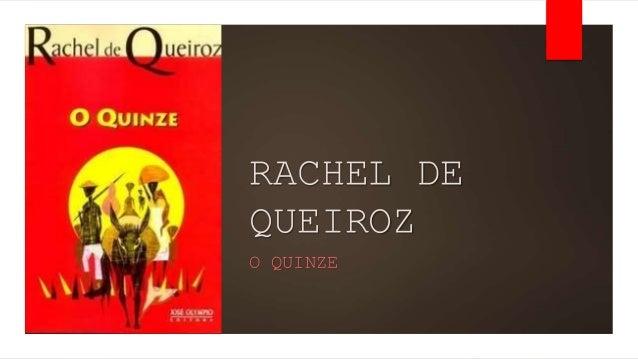 O Quinze - Rachel de Queiroz - Seminário