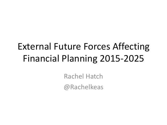 External Future Forces Affecting Financial Planning 2015-2025 Rachel Hatch @Rachelkeas