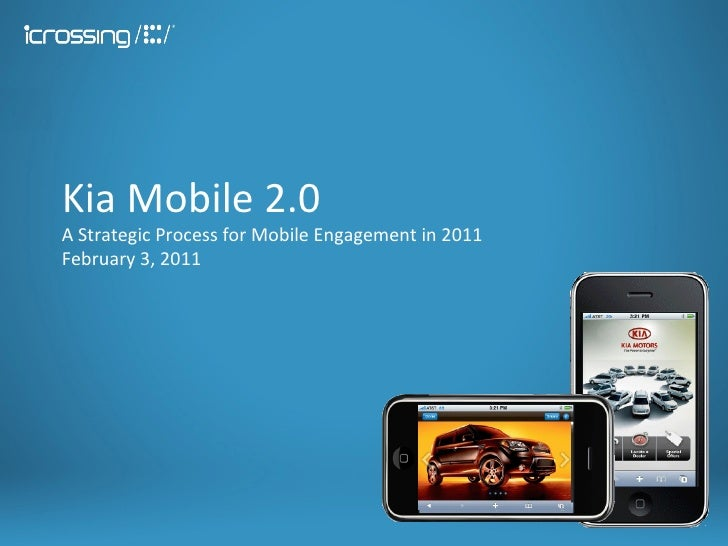 Kia Mobile 2.0 A Strategic Process for Mobile Engagement in 2011 February 3, 2011