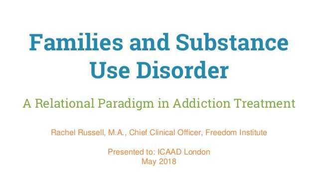 Families and Substance Use Disorder A Relational Paradigm in Addiction Treatment Rachel Russell, M.A., Chief Clinical Offi...