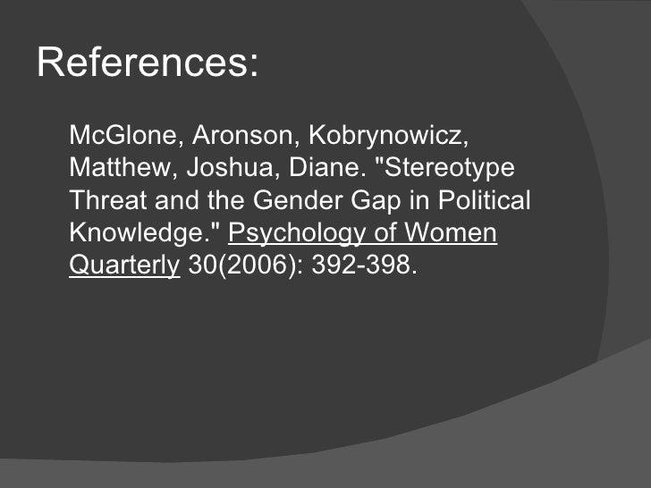 gender role stereotype essay