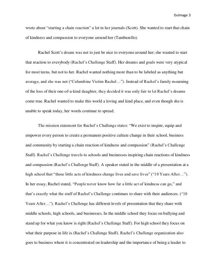 rachel joy scott journal