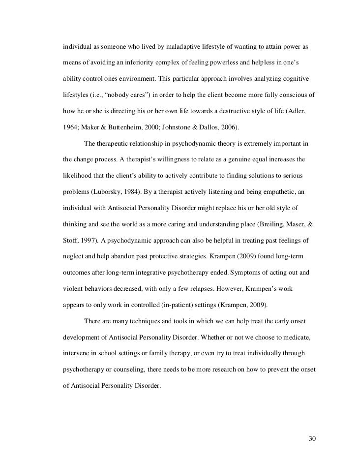 personality disorders essay