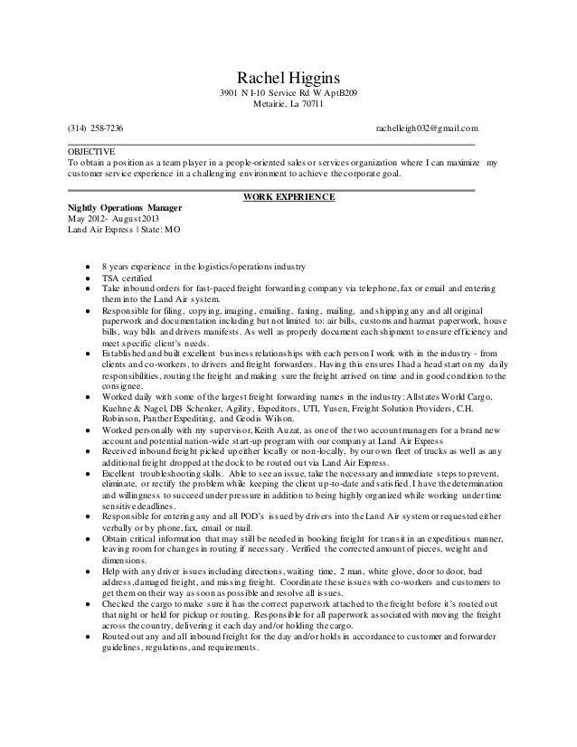 rachels resume2016 operations mananger