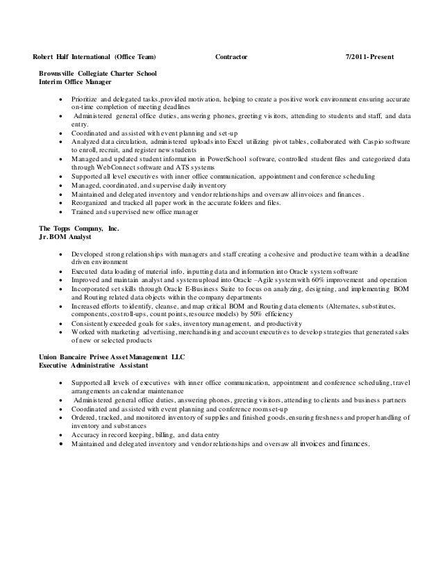 Best Robert Half Resume Images - Simple resume Office Templates .