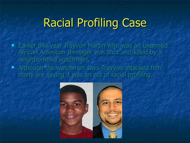 Essay on Racial Profiling