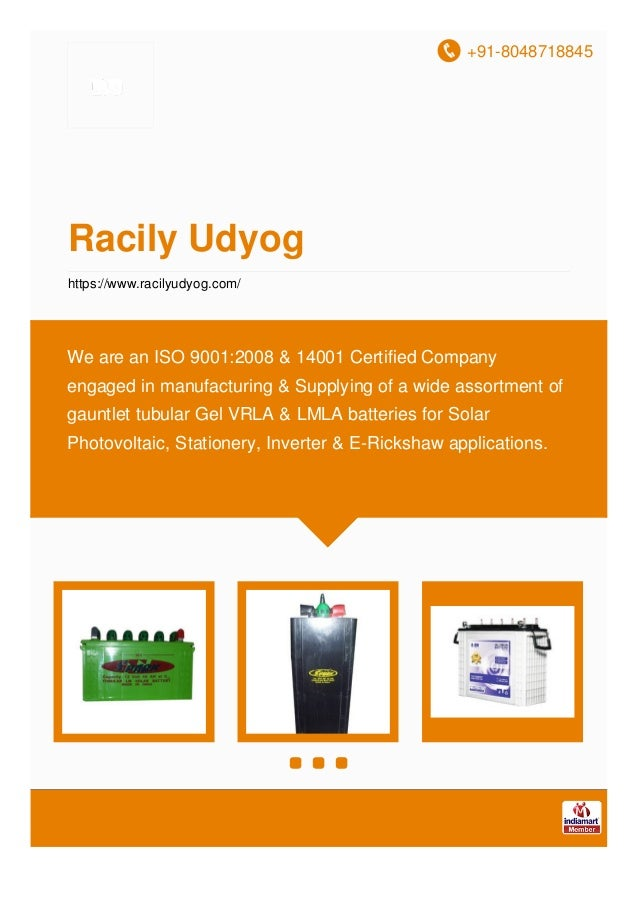 +91-8048718845 Racily Udyog https://www.racilyudyog.com/ We are an ISO 9001:2008 & 14001 Certified Company engaged in manu...