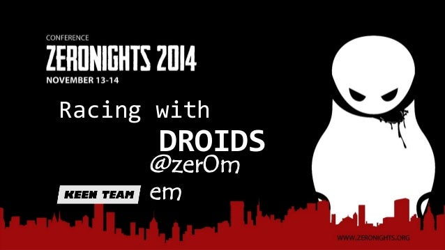 Racing with  DROIDS  @zer0m  em