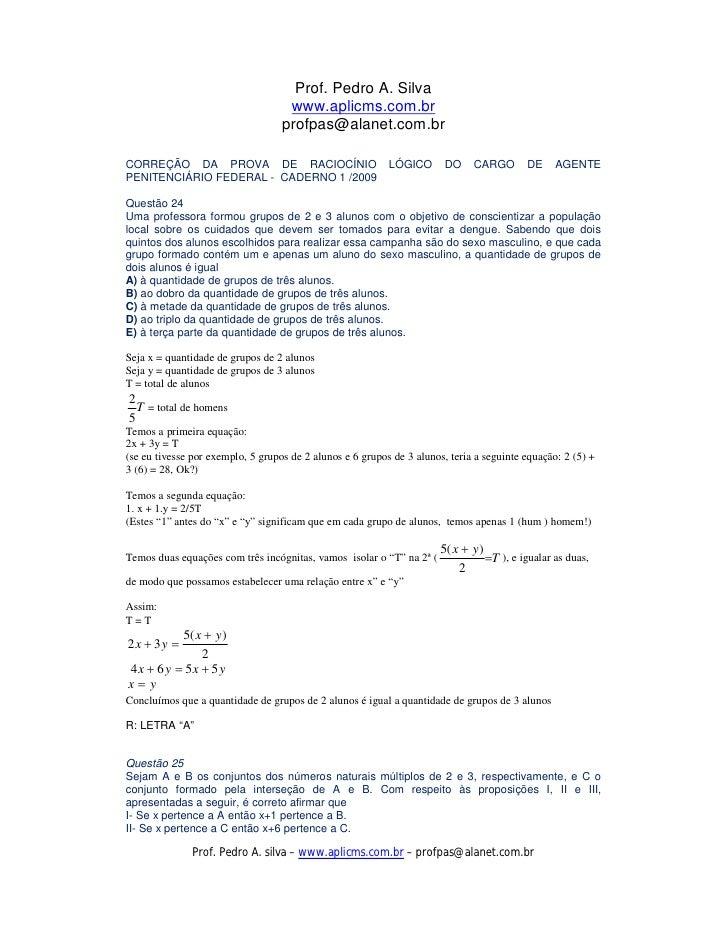 Prof. Pedro A. Silva                                     www.aplicms.com.br                                    profpas@ala...
