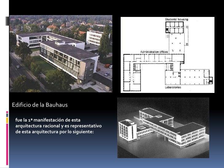 Arquitectura Del Siglo Xx Racionalismo