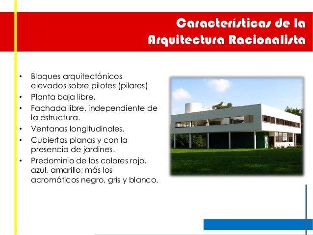 Racionalismo y la bahaus for Caracteristicas de la arquitectura