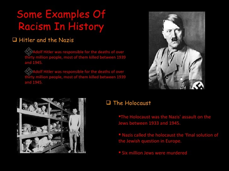 history of racism essay Essays - largest database of quality sample essays and research papers on racism thesis.