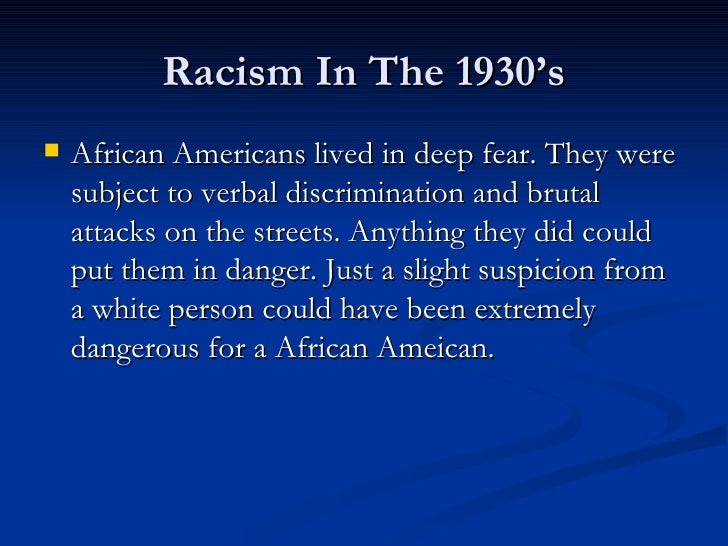 racism and african americans Race, racism and discrimination in the united states race: what is it what race actually represents is still subject to debate reflecting the enduring theme of race in this.