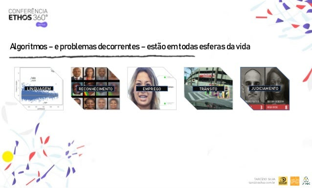 Algoritmos – e problemas decorrentes – estão em todas esferas da vida TARCÍZIO SILVA tarciziosilva.com.br LINGUAGEM JUDICI...