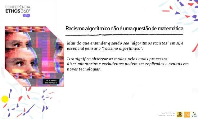 """Racismo algorítmico não é uma questão de matemática Mais do que entender quando são """"algoritmos racistas"""" em si, é essenci..."""
