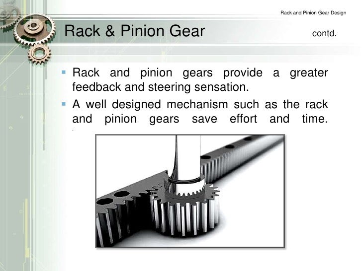 Rack And Pinion Gear Design Project