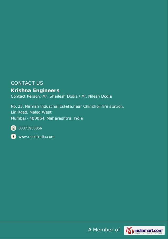 Krishna Engineers Mumbai Hanging Racks