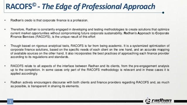 Racofs methodology Slide 2