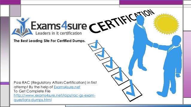 rac regulatory affairs certification dumps pass exam facts