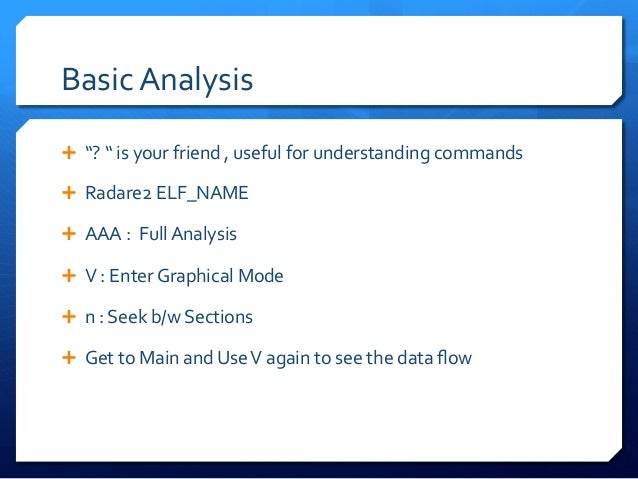 Basic  Commands   Ê pdf  @  main  :  prints  the  dis-‐assembled  function,  which  is  the  ...