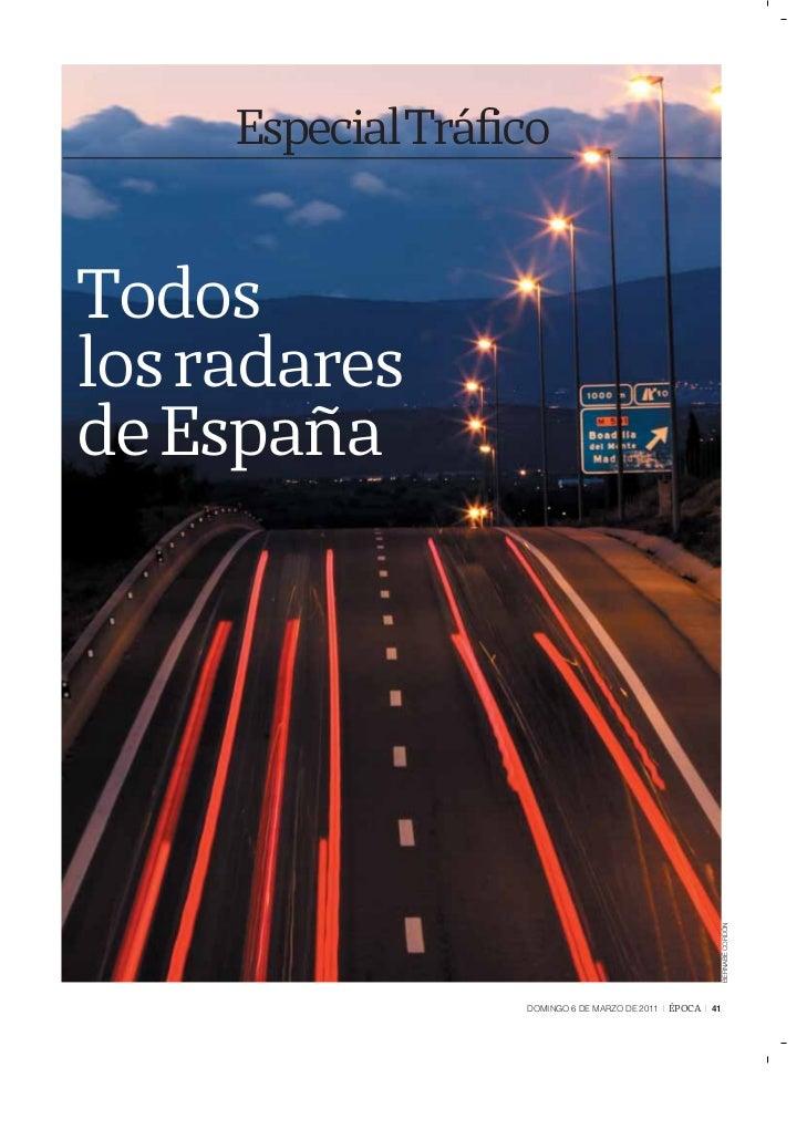 EspecialTráficoTodoslos radaresde España                                                            BERNABÉ CORDÓN        ...