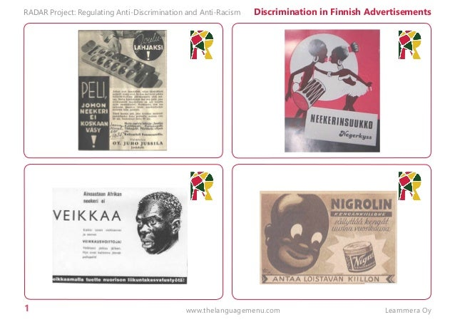 1 RADAR Project: Regulating Anti-Discrimination and Anti-Racism Discrimination in Finnish Advertisements Learnmera Oywww.t...