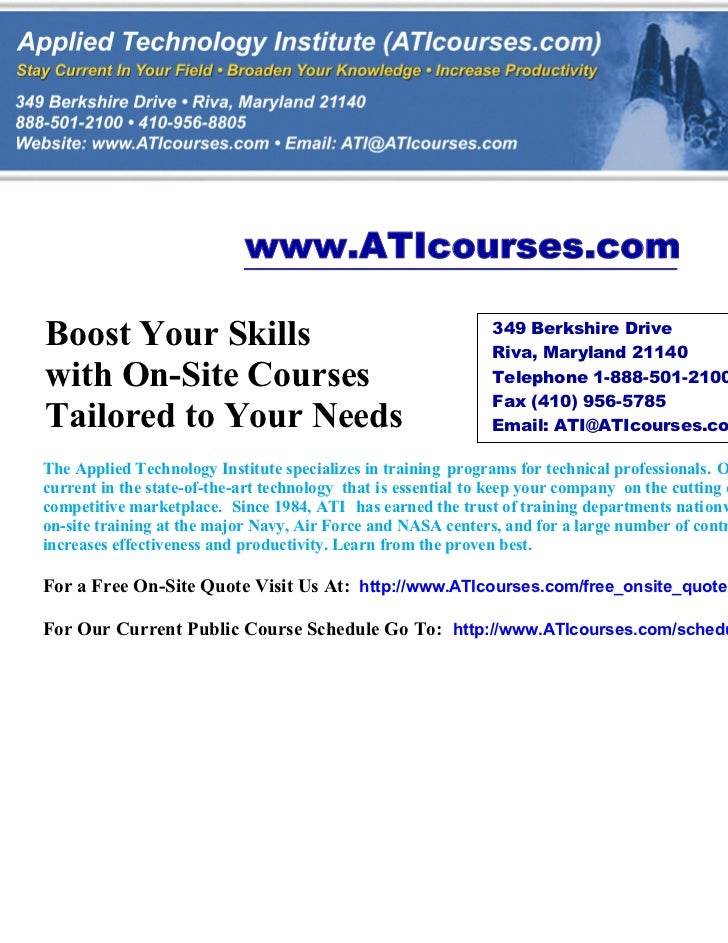 www.ATIcourses.comBoost Your Skills                                             349 Berkshire Drive                       ...