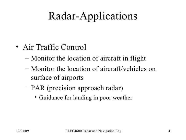 Components of a Pulse Radar System