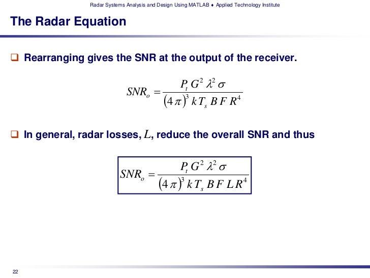 ATI's Radar Systems Analysis & Design using MATLAB Technical Training…