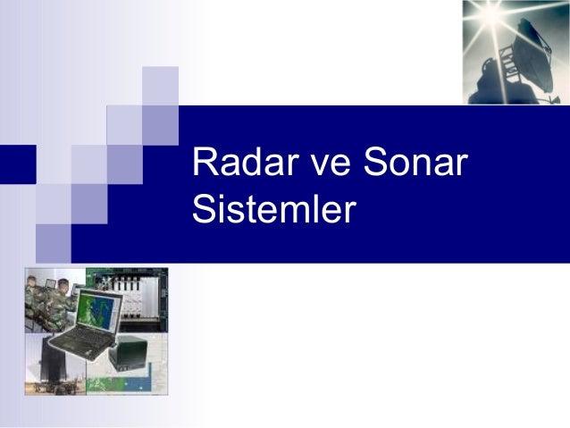 Radar ve Sonar Sistemler