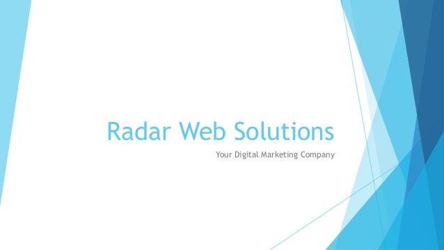 Radar Web Solutions Your Digital Marketing Company