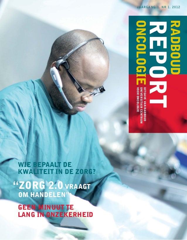 jaargang 1. nr 1. 2012                         oncologie                                         report                   ...