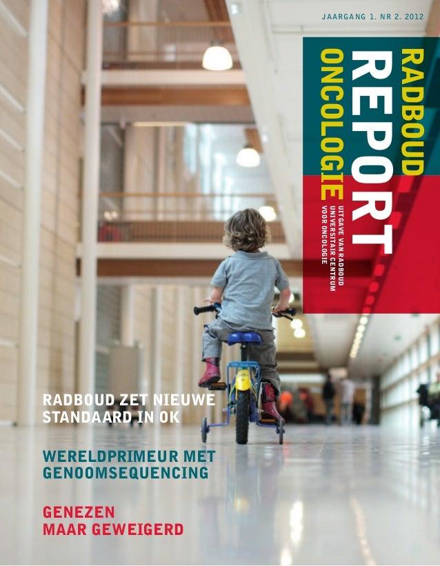 jaargang 1. nr 2. 2012                     oncologie                                     report                           ...