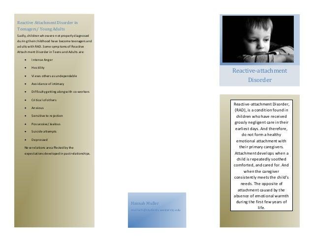 Reactive Attachment Disorder Brochure