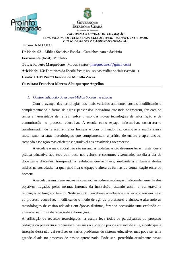 smartphone  PROGRAMA NACIONAL DE FORMAÇÃO CONTINUADA EM TECNOLOGIA EDUCACIONAL - PROINFO INTEGRADO CURSO DE REDES DE APREN...