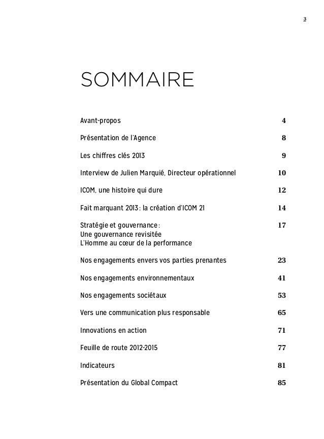 Rapport de Développement Durable 2013  Slide 3