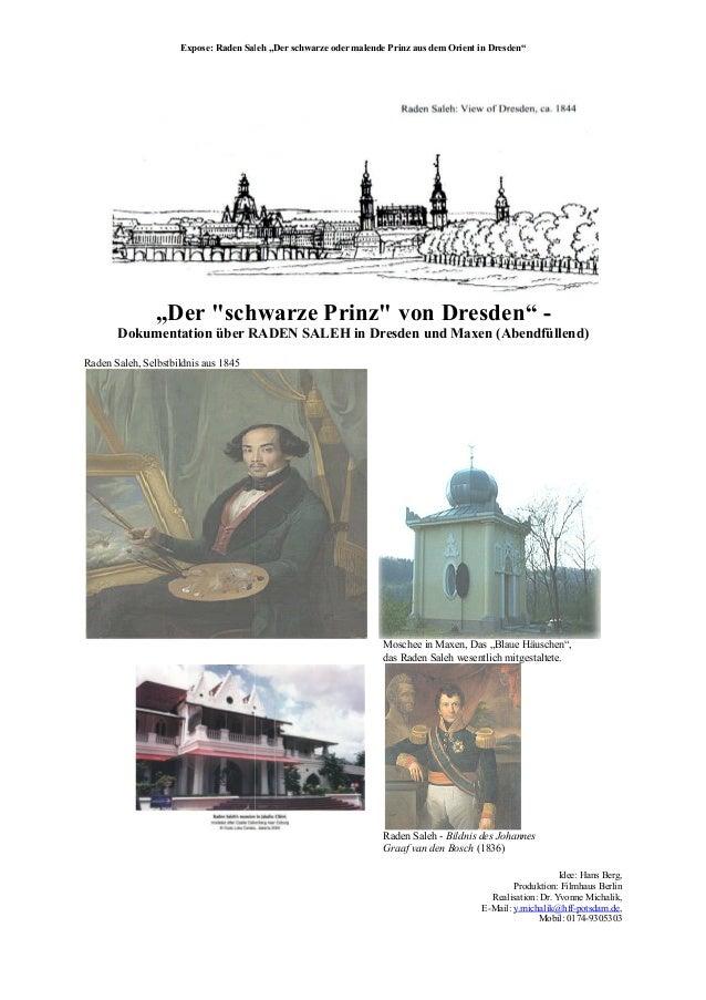 """Expose: Raden Sal """"Der """"schwarze Prinz"""" von Dresden"""" Dokumentation über RADEN SALEH in Raden Saleh, Selbstbildnis aus 1845..."""