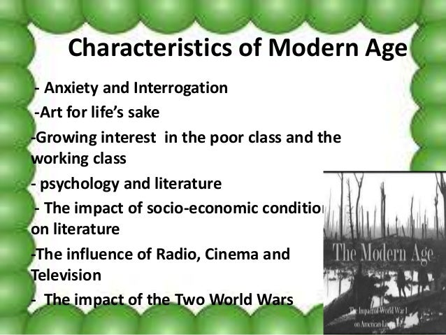 modern age literature