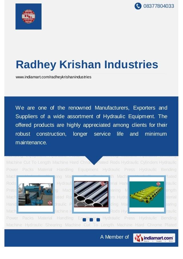 08377804033    Radhey Krishan Industries    www.indiamart.com/radheykrishanindustriesCut To Length Machine Hard Chrome Pla...