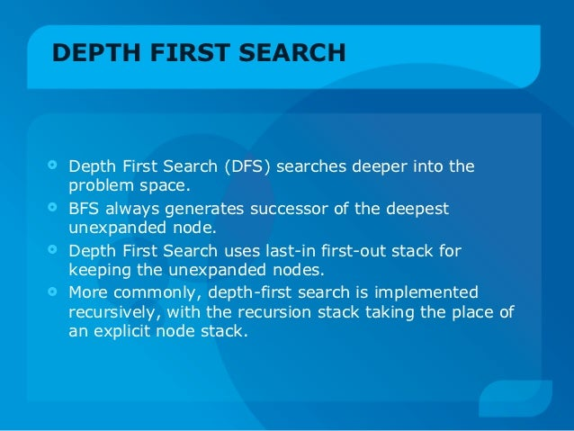 Depth First Search - Artificial Intelligence