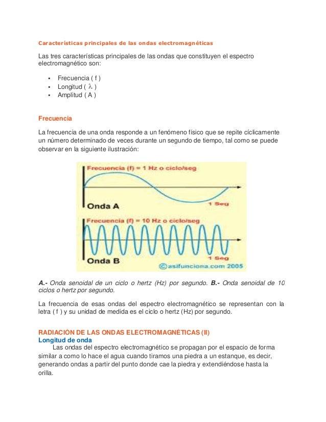 Radiación de las ondas electromagnéticas Slide 2