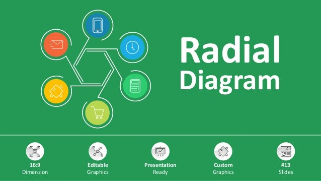 Radial Diagram 16:9 Dimension Editable Graphics Presentation Ready Custom Graphics #13 Slides