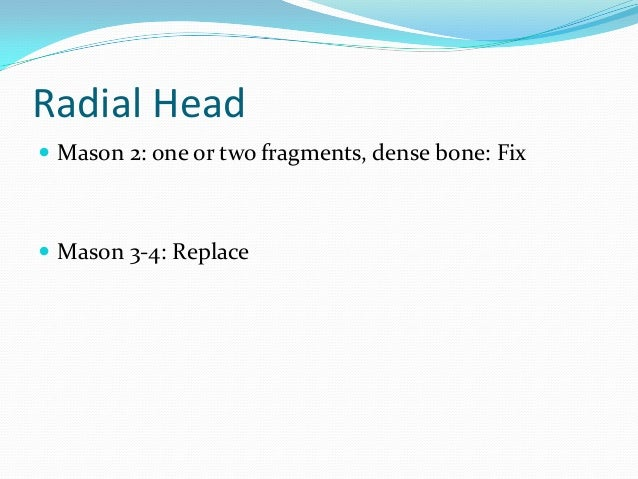 Radial head replacement best evidence