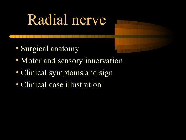 Radial nerve injury
