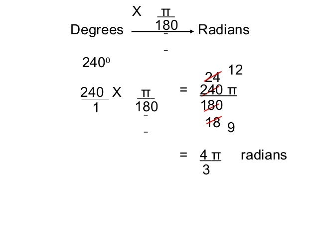 how to find the radian measure of an angle