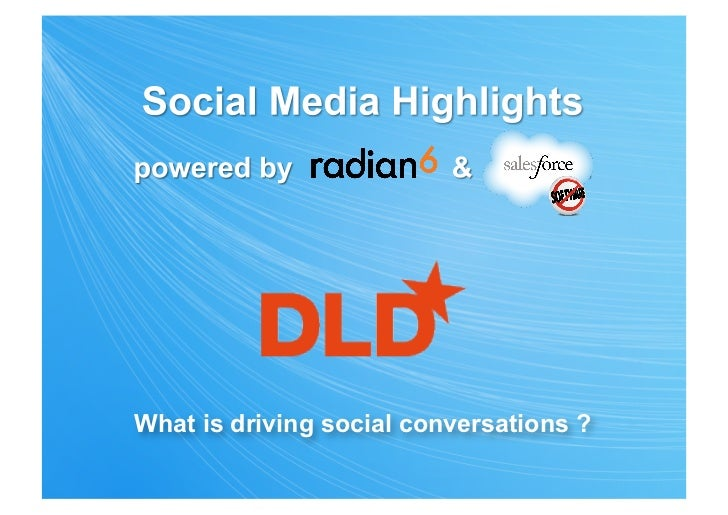 What is driving social conversations ?