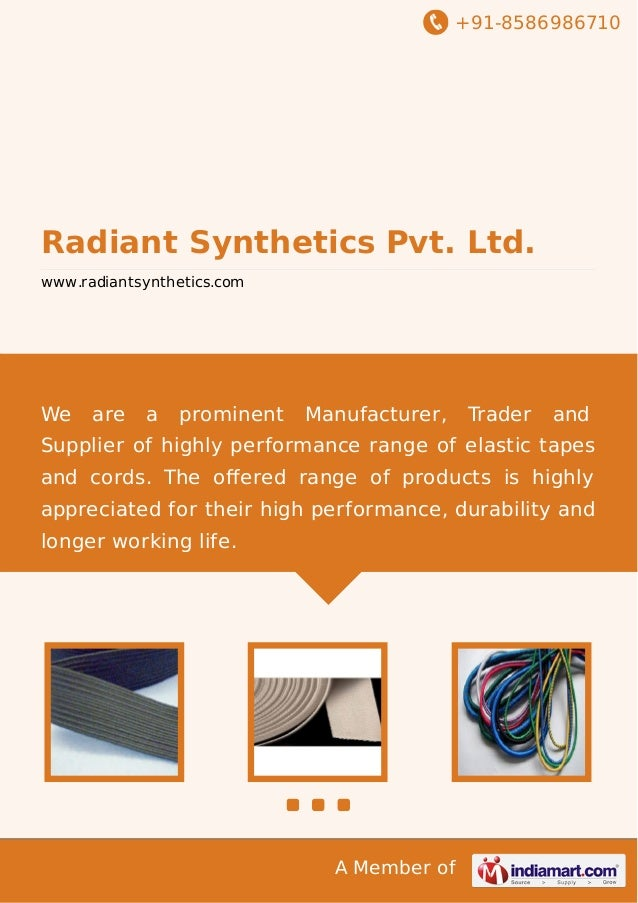 +91-8586986710  Radiant Synthetics Pvt. Ltd. www.radiantsynthetics.com  We  are  a  prominent  Manufacturer,  Trader  and ...