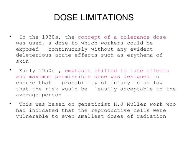 """Maximum Permissible Dose """"There is no safe level of exposure and there is no dose of radiation so low that the risk of a m..."""
