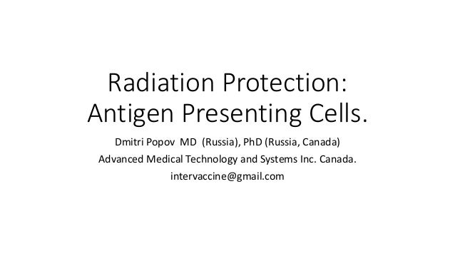 Radiation protection: antigen presenting cells