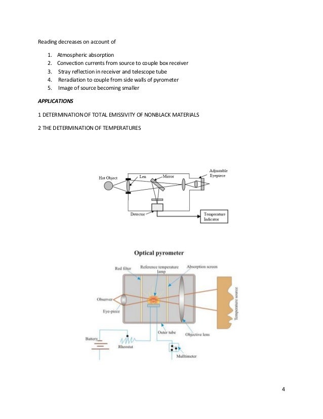 radiation pyrometry and temperature sensor shading of concave mirror by thermocouple box 4